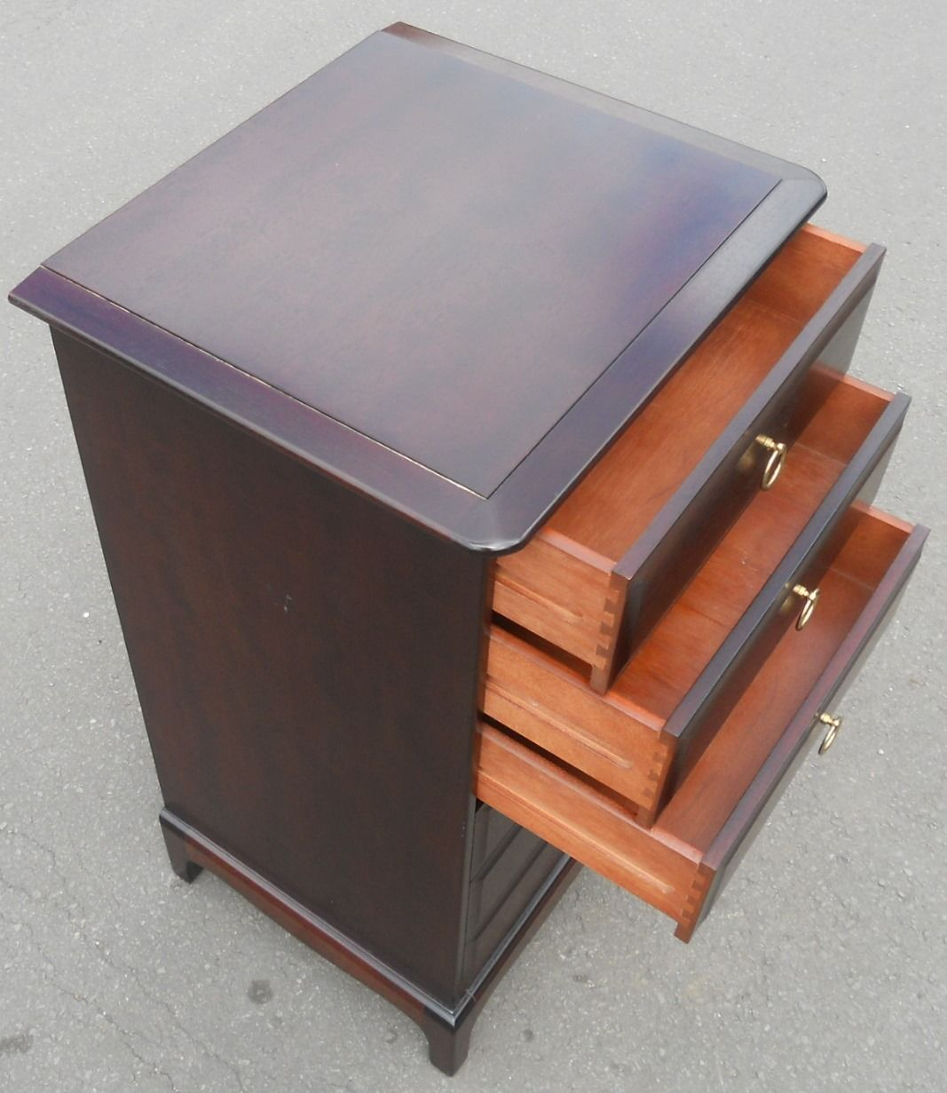 Stag Tall Narrow Mahogany Chest Of Drawers